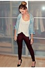 White-h-m-top-crimson-gina-tricot-pants-sky-blue-zara-blouse
