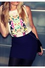 Black-h-m-purse-purple-h-m-skirt-white-h-m-top-black-zara-heels