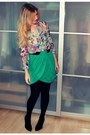 Burnt-orange-h-m-bag-light-purple-h-m-blouse-teal-h-m-skirt
