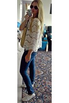 GINA TRICOT shirt - H&M jeans - H&M bag - Ray Ban sunglasses - H&M sneakers