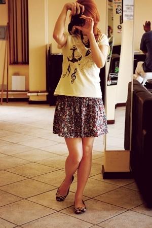 laundry shirt - luigi bertolli skirt - triton shoes