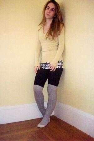 Forever21 sweater - top - Under Armour leggings - kohls socks