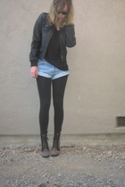 H&M jacket - aa t-shirt - Levi shorts - Marc by Marc shoes