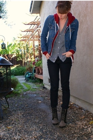 a&f jacket - aa sweater - aa sweater - Urban Outfitters jeans - Marc by Marc Jac