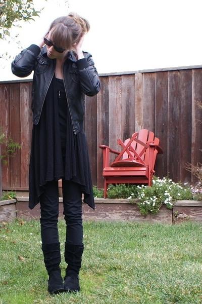H&M jacket - f21 sweater - Target top - Urban Outfitters jeans - Nordstrom boots