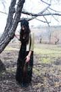 Black-lace-beading-shahkuhachi-dress-gold-sequined-silence-noise-jacket