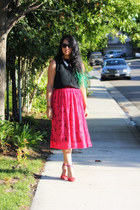 black banana republic shirt - red asoscom skirt - red Zara heels