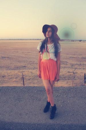 light orange asos skirt - ivory Forever 21 shirt
