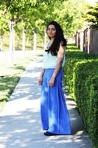 blue Dolce Vita wedges - light blue H&M shirt - sky blue H&M pants