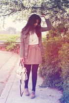 army green Marshalls jacket - white Target shirt - tan Forever 21 skirt