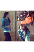 jean Levis jacket - frilly Forever 21 blouse - loose fit Bayo pants