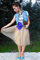 Zara skirt - my design accessories - Stradivarius t-shirt