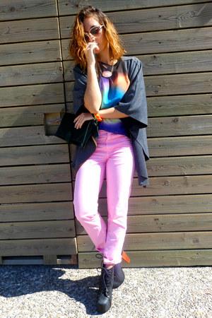 Zara blouse - Jeffrey Campbell boots - my design bracelet