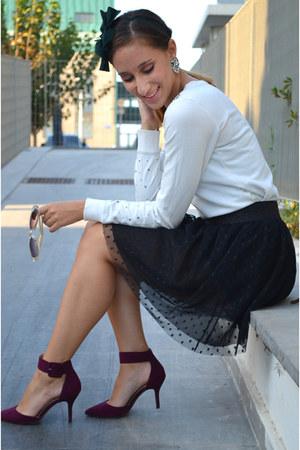 Zara heels - Bershka hoodie