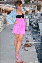 Jeffrey Campbell sandals - RIEN by Penny Vomva shorts - Ioanna Koulouri earrings