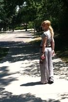 Xhileration pants - Gap shirt - nicole lee wallet - Ugg sandals
