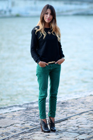 ASH boots - SANDRO jeans - gold stars Claudie Pierlot sweater