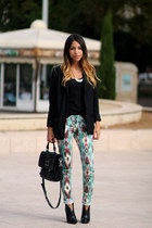 printed New Yorker pants - ASH boots - VANESSA BRUNO blazer