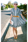 Striped-frilled-vintage-dress-patent-leather-wittner-shoes