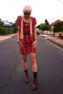 Black-vintage-boots-ruby-red-vintage-remake-dress