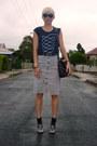 Silver-silver-shoes-black-satchel-vintage-bag-black-striped-thrifted-skirt