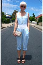 aquamarine vintage romper - dark brown Jeffrey Campbell sandals