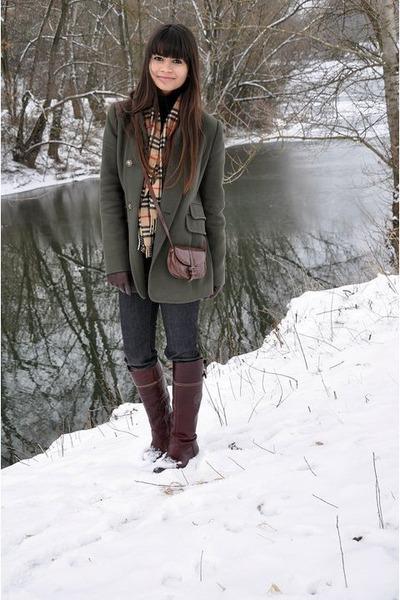 Tommy Hilfiger boots - Mango coat - Ralph Lauren jeans - Burberry scarf