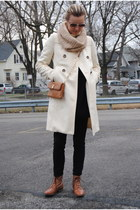 white united colors of benetton coat