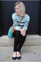 aquamarine JCrew sweater