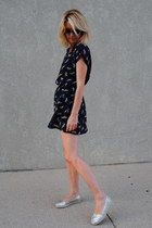 silver JCrew shoes - navy Marshalls dress