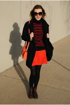 red JCrew skirt