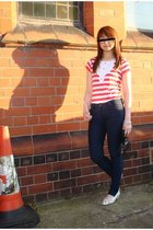 Marks and Spencers t-shirt - Topshop pants - Gabor shoes - Osiris glasses