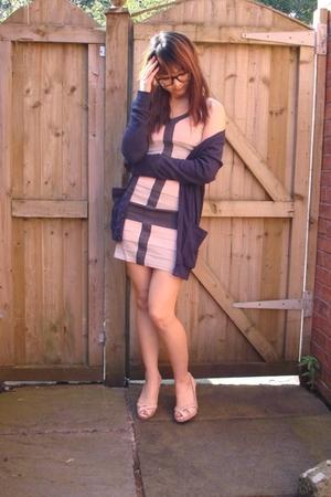 Lipsy dress - American Apparel sweater - Oasis shoes - Afflecks glasses