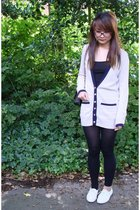Miss Selfridge top - Gap top - Topshop stockings - Chanel purse - Osiris glasses