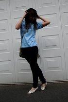 Super Lovers t-shirt - Topshop pants - Ray Ban sunglasses - River Island purse -
