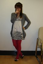 Topshop sweater - Asda tights - Miss Selfridge dress - River Island - Osiris gla