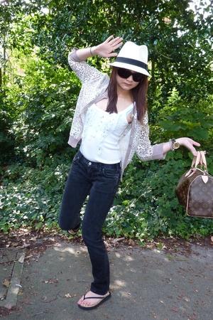 HK vest - Primark sweater - Topman hat - Gap jeans - Accessorize shoes - Louis V