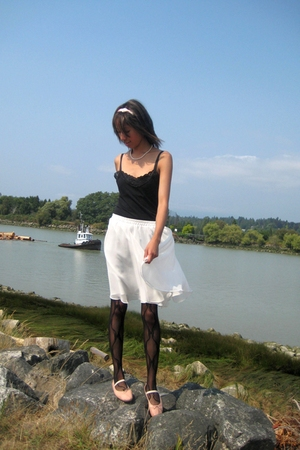 Costa Blanca shirt - thrifted skirt - Aldo tights - American Ballet Theater shoe