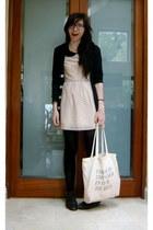 oversize American Apparel cardigan - Louche dress