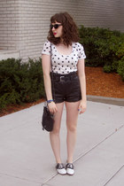 kitty Urban Outfitters shirt - faux leather Divided shorts