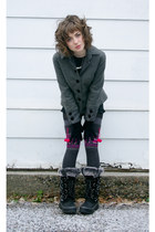 black Khombu boots - charcoal gray Target socks - heather gray Victorias Secret