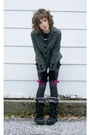 Black-khombu-boots-charcoal-gray-target-socks-heather-gray-victorias-secret-