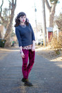 Crushed-velvet-romwe-leggings-polka-dot-unknown-blouse