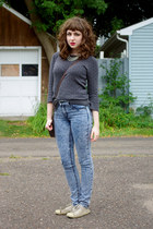 acid wash Cheap Monday jeans - unknown sweater