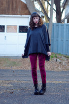 poncho Forever 21 sweater - romwe leggings