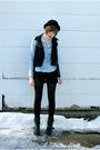 Black-dirty-laundry-boots-black-hue-tights-blue-old-navy-shirt-black-urban