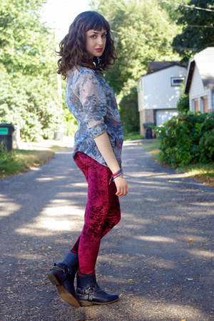velvet romwe leggings