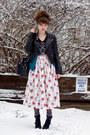 Skull-guess-shirt-floral-vintage-skirt