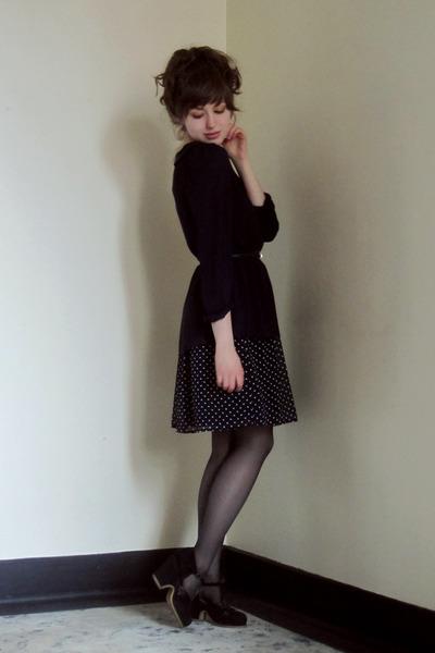 polka dot Zara dress - Forever 21 shirt