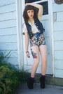 Light-blue-floral-mink-pink-shorts